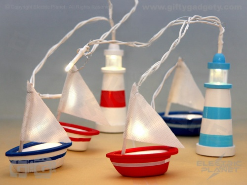 Nautical String Lights - Boats & Lighthouses