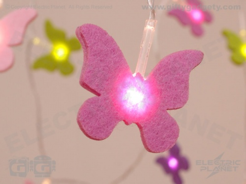 Butterfly LED Felt Stringlights
