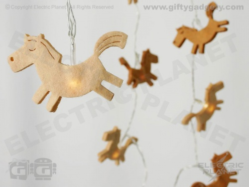 Horse LED Felt Stringlights