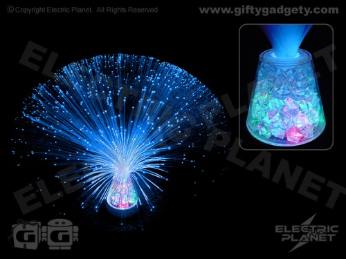 Fibre Optic Blue Ice Lamp