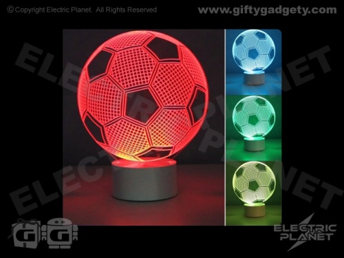 3D Effect Football Lamp