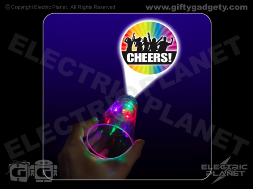 Cheers Flashing LED Glass