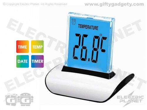 LED Colour-Changing Push Clock
