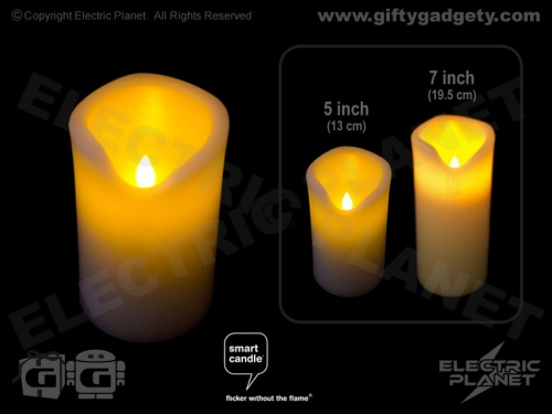 Smart Candle Real Wax Pillar Candle