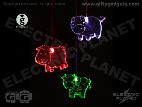 Farmyard Animal LED Mobile