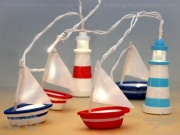 Nautical String Lights - Boats & Lighthouses (Battery)