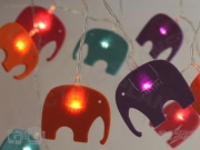 Elephant LED Felt Stringlights
