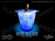 Blue LED Light-Up Ice Bucket