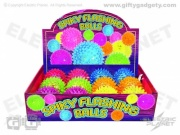 Light-Up Flashing Spiky Balls x 12 - Small