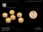 Smart Candle Safe Flame LED Tealights x 6