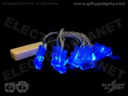 Blue Teddybear String Lights