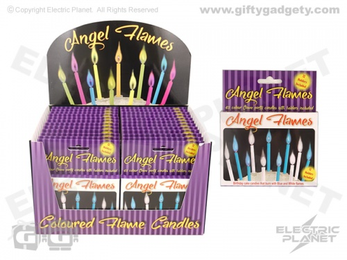Angel Flames Cake Candles - Blue & White