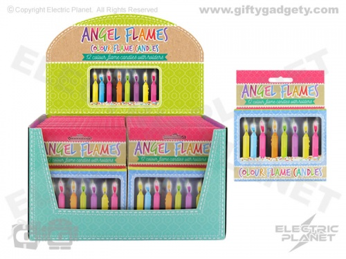 Angel Flames Cake Candles