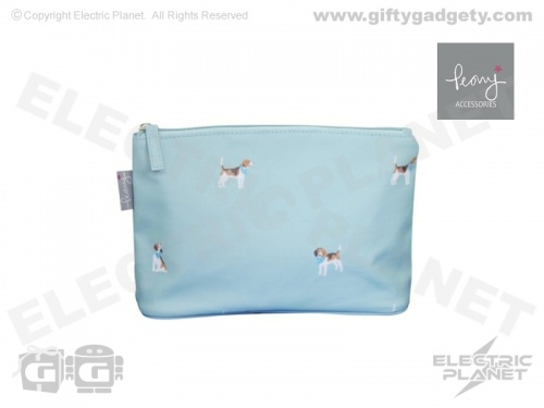 Beagle Print Makeup Bag