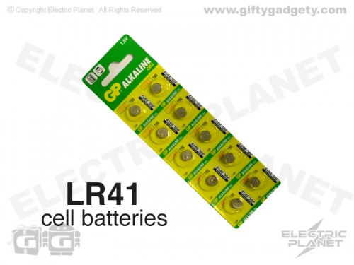 GP Alkaline LR41 (AG3) Cell Batteries