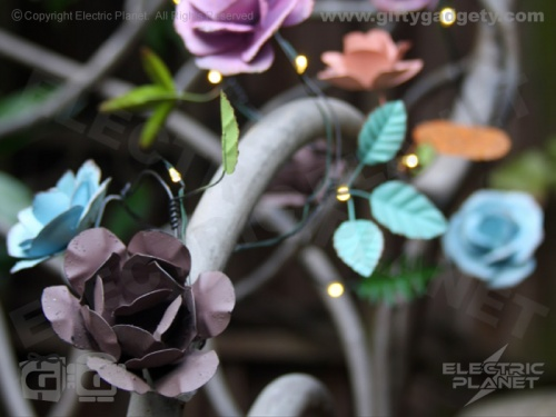 Handmade Metal Rose Stringlights