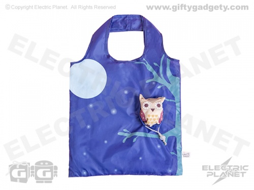 Foldable Shopping Bag - Owl