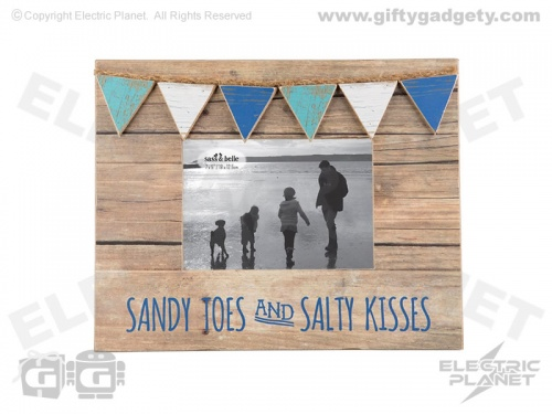 Sandy Toes & Salty Kisses Nautical Photo Frame
