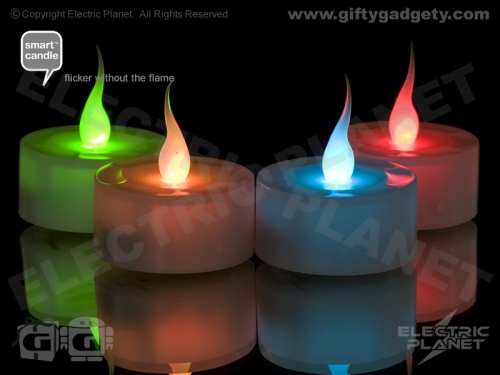 Smart Candle Colour-Changing Tealights - Pack of 6