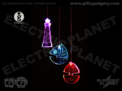 Nautical Boat & Lighthouse LED Mobile