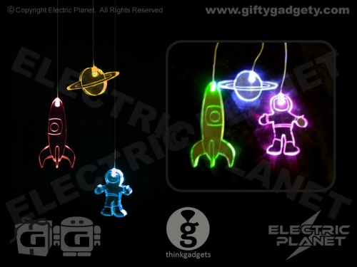 Spaceman Colour-Changing LED Mobile