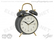 Newgate Twin Bell Alarm Clock - Charcoal