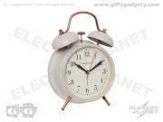 Newgate Twin Bell Alarm Clock - Cream
