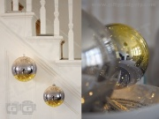 Glass LED Bauble - 15cm Gold