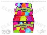 Light-Up Flashing Spiky Balls x 12 - Large