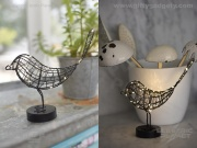 Metal LED Robin - Black