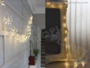 Silver Starburst Light Chain - Battery