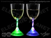 Light-Up LED Wine Glasses x 2