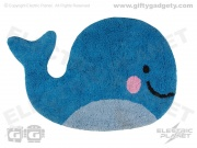 Happy Whale Cotton Rug