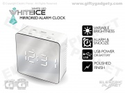 White Mirrored LED Clock